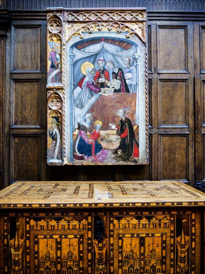 Μεσαιωνική τέχνη στην κυρία Lever γκαλερί τέχνης του φωτός του ήλιου λιμένων, που δημιουργείται από το μοχλό του William Hesketh  στοκ φωτογραφίες