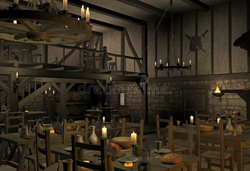 μεσαιωνική ταβέρνα στοκ εικόνες
