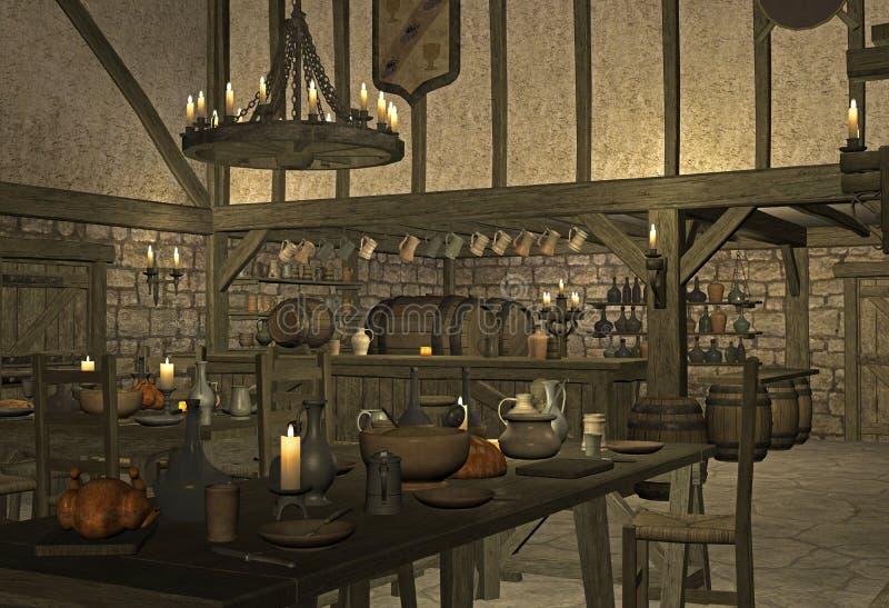 μεσαιωνική ταβέρνα στοκ φωτογραφίες με δικαίωμα ελεύθερης χρήσης