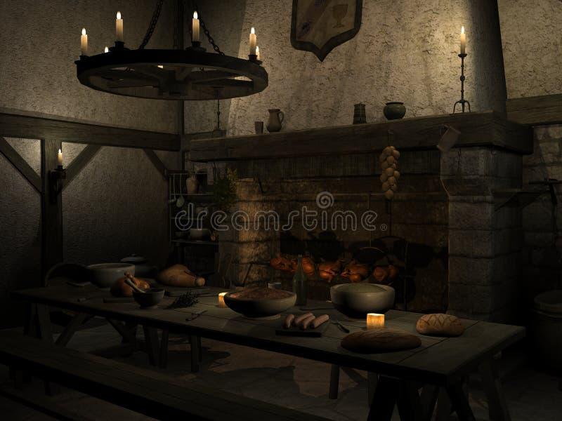 μεσαιωνική ταβέρνα διανυσματική απεικόνιση