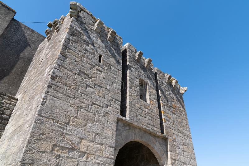 Μεσαιωνικοί τοίχοι Guerande Γαλλία Loire-Atlantique στοκ φωτογραφία