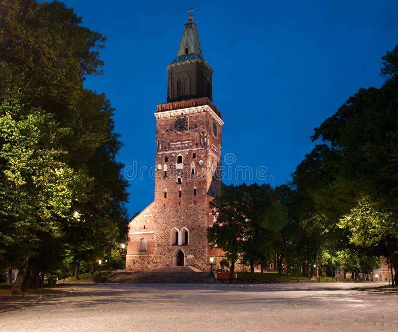 Μεσαιωνικός καθεδρικός ναός του Τουρκού στη Φινλανδία στοκ εικόνες
