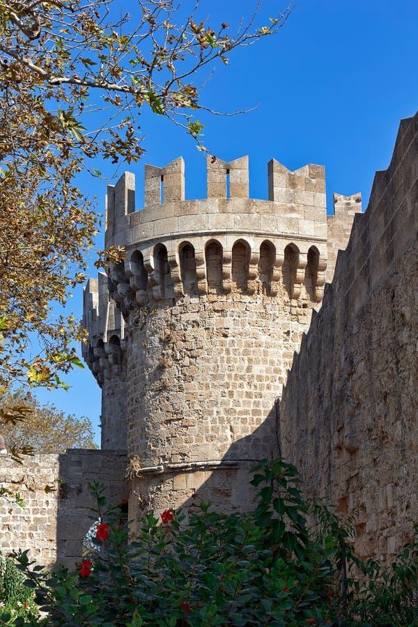 Μεσαιωνικός πύργος κάστρων στοκ εικόνα