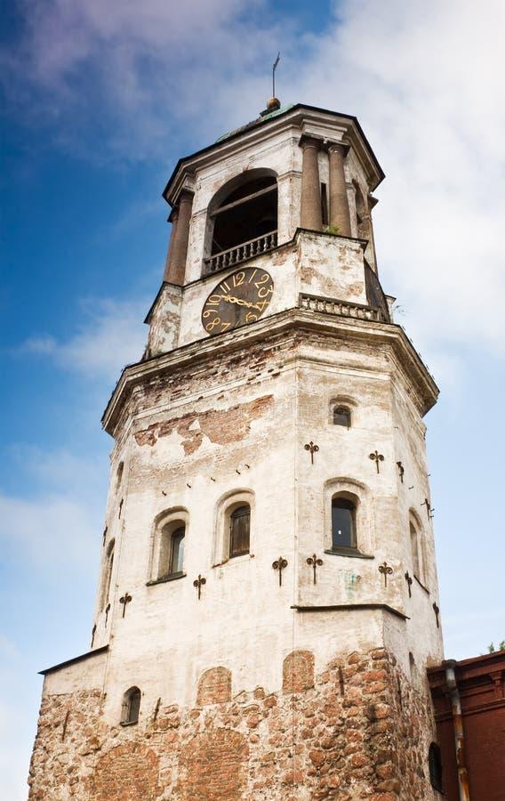 μεσαιωνικός πύργος ρολογιών vyborg στοκ φωτογραφία με δικαίωμα ελεύθερης χρήσης