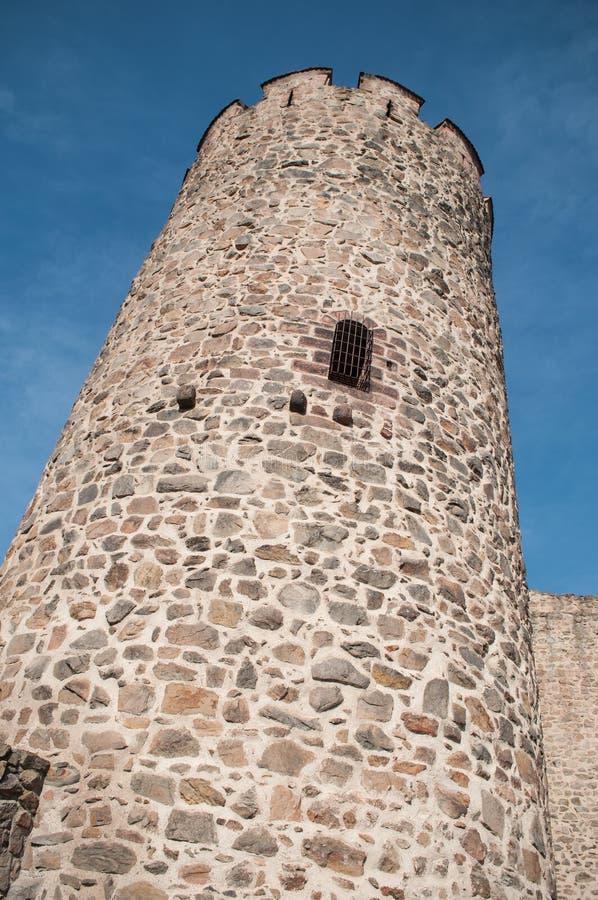 μεσαιωνικός πύργος του χωριού kaysersberg - ο χαρακτηριστικός στοκ εικόνες