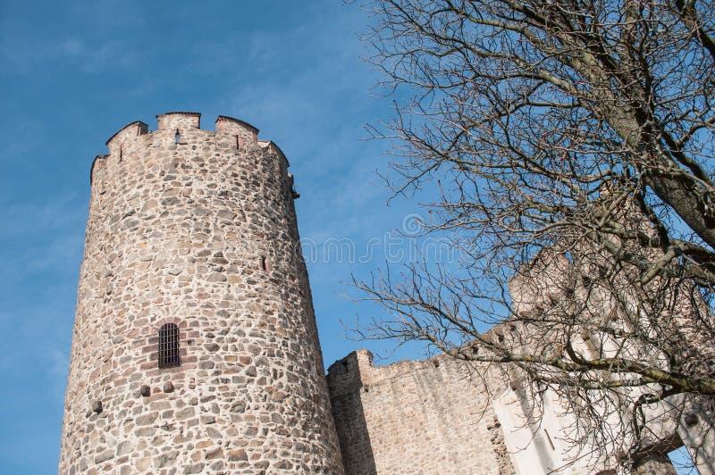 μεσαιωνικός πύργος του χωριού kaysersberg - ο χαρακτηριστικός στοκ φωτογραφίες