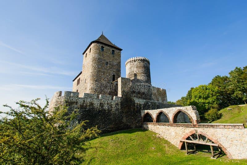 Μεσαιωνικό βασιλικό γοτθικό κάστρο πετρών σε Bedzin, ανώτερη Σιλεσία, Πολωνία στοκ φωτογραφία με δικαίωμα ελεύθερης χρήσης