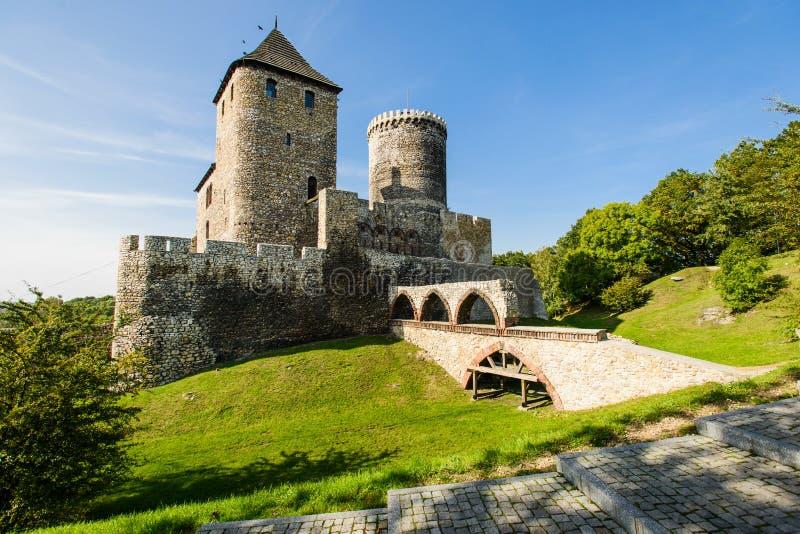 Μεσαιωνικό βασιλικό γοτθικό κάστρο πετρών σε Bedzin, ανώτερη Σιλεσία, Πολωνία στοκ εικόνα