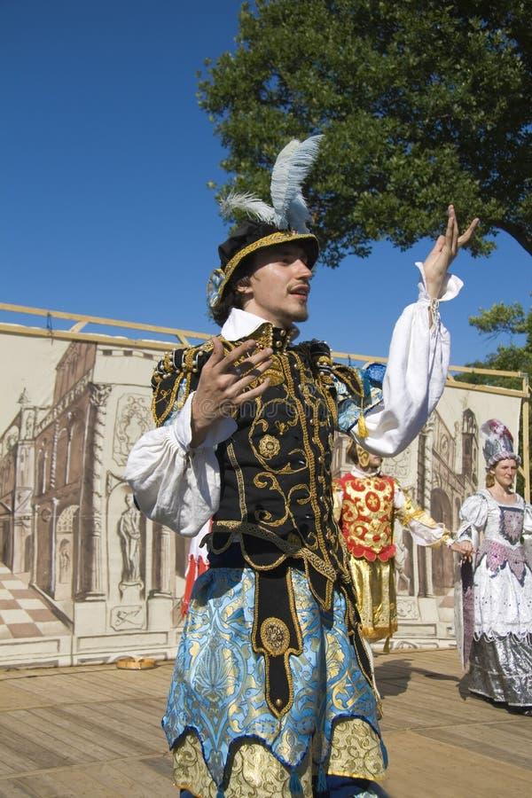 μεσαιωνικό θέατρο δραστών στοκ φωτογραφία με δικαίωμα ελεύθερης χρήσης