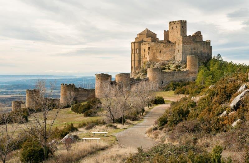 Μεσαιωνικό κάστρο Loarre, Ισπανία στοκ φωτογραφία με δικαίωμα ελεύθερης χρήσης