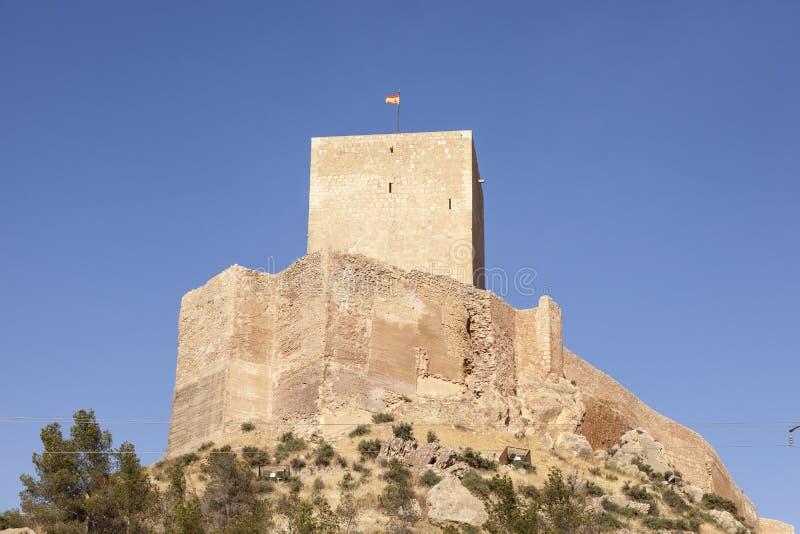 Μεσαιωνικό κάστρο Lorca, επαρχία του Murcia, Ισπανία στοκ φωτογραφία με δικαίωμα ελεύθερης χρήσης