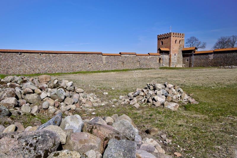 Μεσαιωνικό κάστρο, Medininkai, Λιθουανία στοκ φωτογραφία