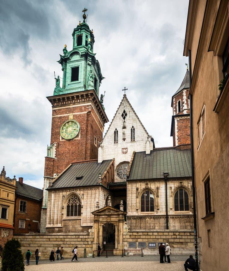 Μεσαιωνικό κάστρο Wawel σύνθετο στην Κρακοβία στοκ φωτογραφίες