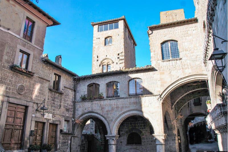 Μεσαιωνικό κέντρο του Βιτέρμπο στοκ φωτογραφία