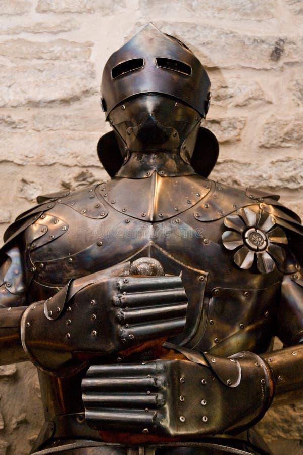 μεσαιωνικό κοστούμι τεθωρακισμένων στοκ εικόνες