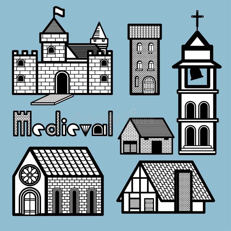 Μεσαιωνικό κτήριο ελεύθερη απεικόνιση δικαιώματος