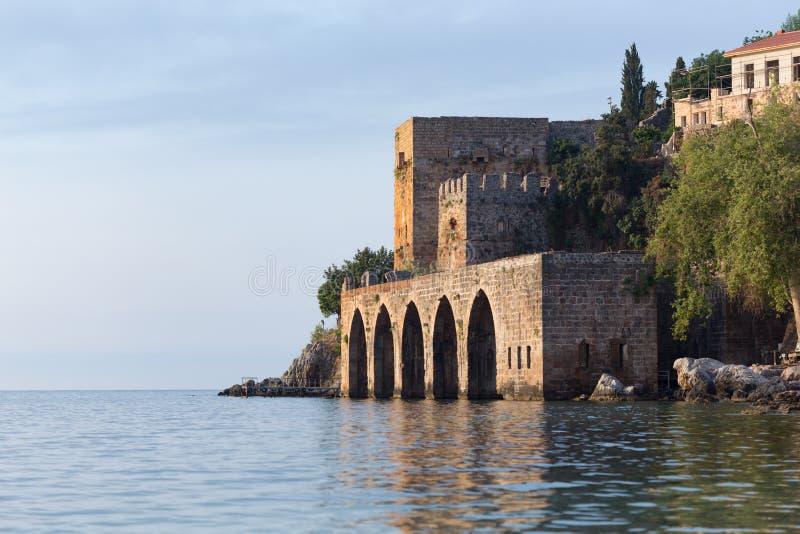 Μεσαιωνικό ναυπηγείο Alanya στοκ εικόνες