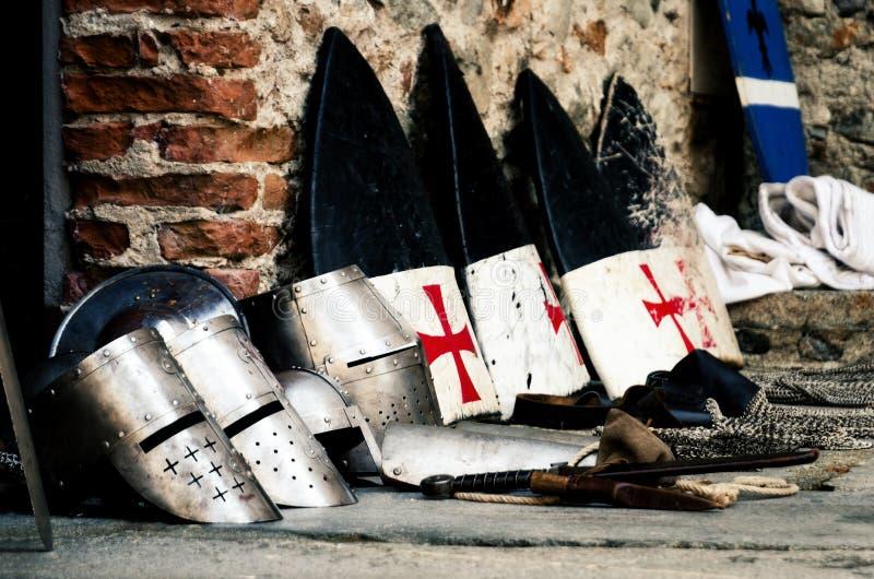 Μεσαιωνικό οπλοστάσιο σε ένα κάστρο στοκ φωτογραφίες με δικαίωμα ελεύθερης χρήσης