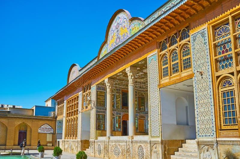 Μεσαιωνικό σπίτι Qavam στη Shiraz, Ιράν στοκ φωτογραφίες