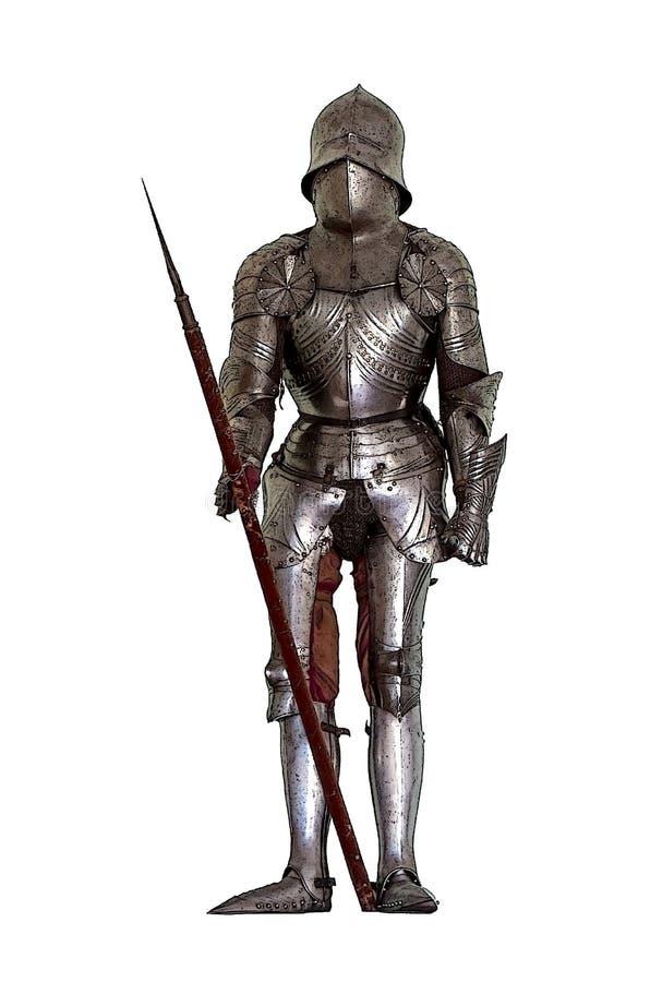 Μεσαιωνικό τεθωρακισμένο ιπποτών ` s διανυσματική απεικόνιση