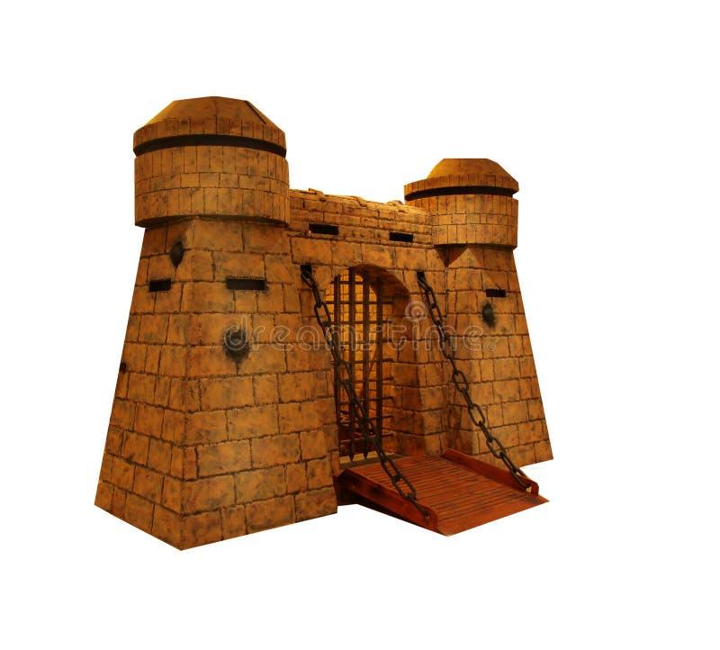 Μεσαιωνικό του Castle φρουρίων απομονωμένο πύργος παραμύθι φυλακών ιστορίας αρχαίο στοκ φωτογραφίες