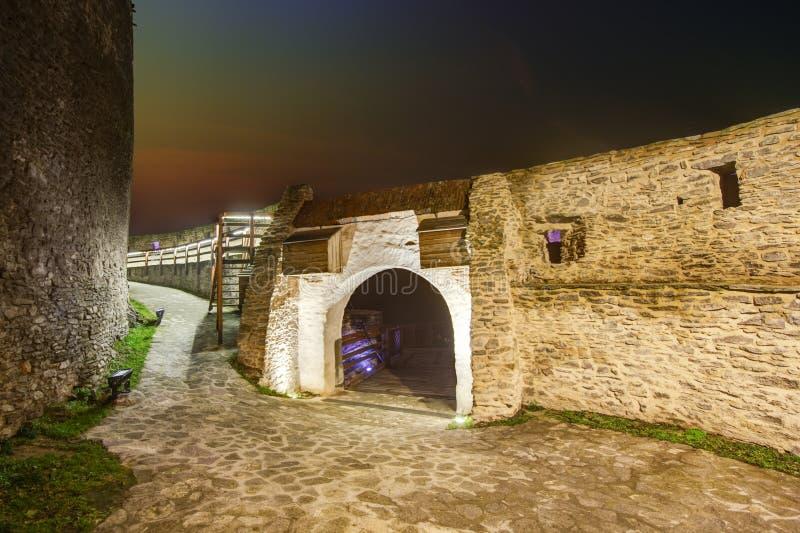 Μεσαιωνικό φρούριο Deva στην Ευρώπη, Ρουμανία στοκ φωτογραφία με δικαίωμα ελεύθερης χρήσης