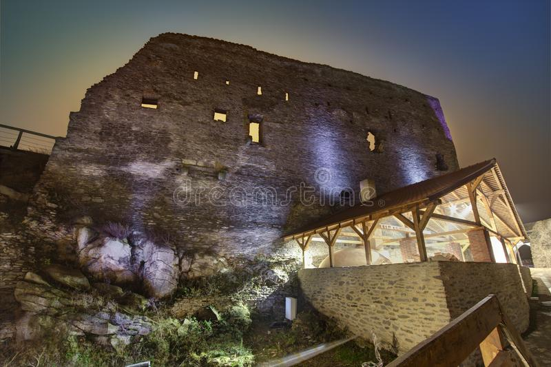 Μεσαιωνικό φρούριο Deva στην Ευρώπη, Ρουμανία στοκ εικόνα
