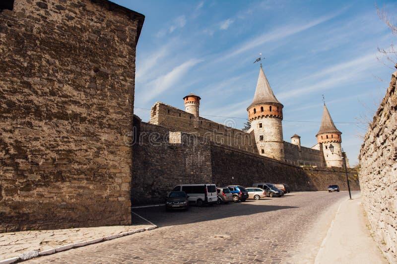Μεσαιωνικό φρούριο kamenetz-Podolsk Ουκρανία κάστρων στοκ φωτογραφίες με δικαίωμα ελεύθερης χρήσης