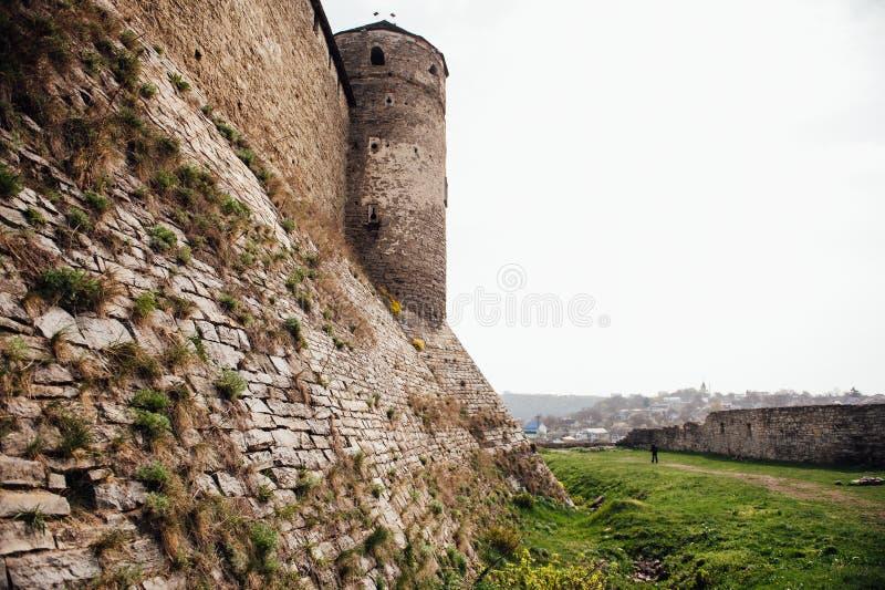 Μεσαιωνικό φρούριο kamenetz-Podolsk Ουκρανία κάστρων στοκ εικόνα