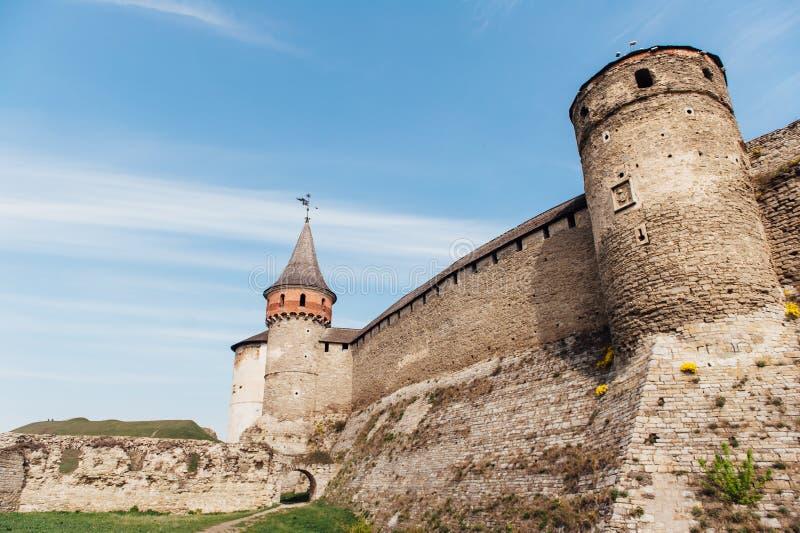 Μεσαιωνικό φρούριο kamenetz-Podolsk Ουκρανία κάστρων στοκ εικόνες με δικαίωμα ελεύθερης χρήσης