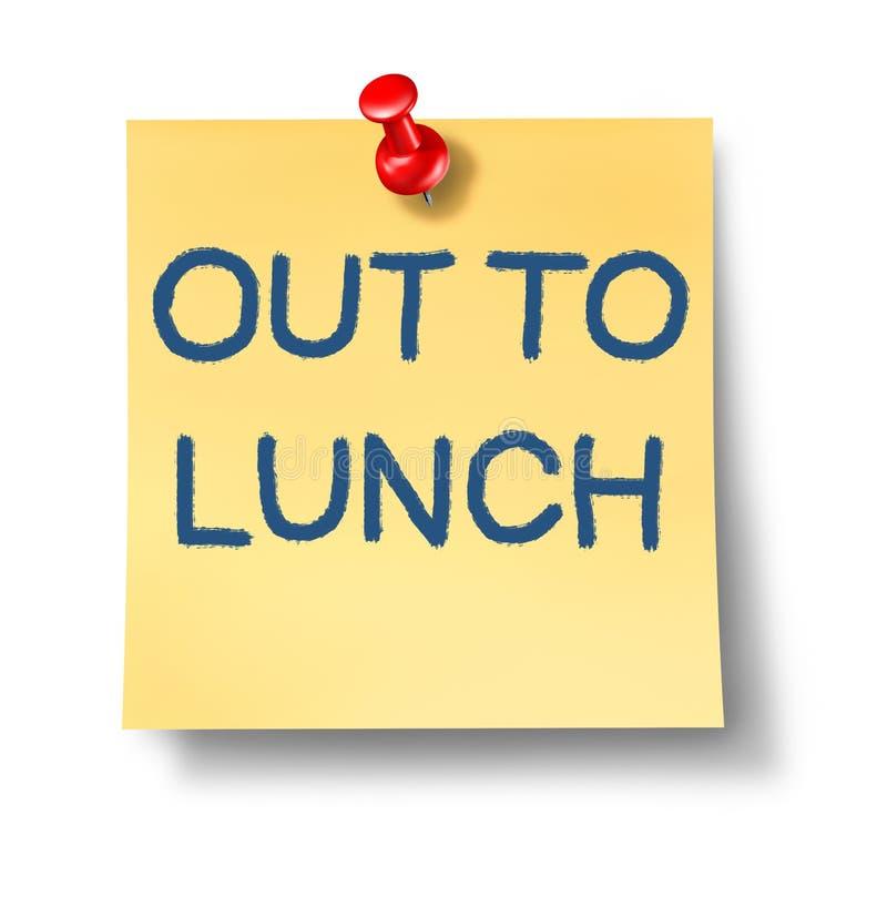 μεσημεριανό γεύμα έξω διανυσματική απεικόνιση