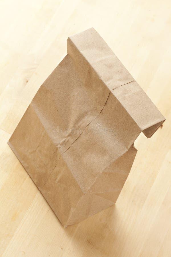 Μεσημεριανό γεύμα σάκων τσαντών καφετιού εγγράφου στοκ φωτογραφία