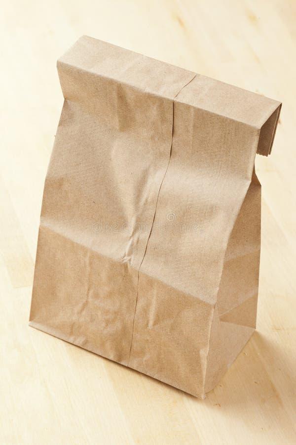 Μεσημεριανό γεύμα σάκων τσαντών καφετιού εγγράφου στοκ εικόνες με δικαίωμα ελεύθερης χρήσης