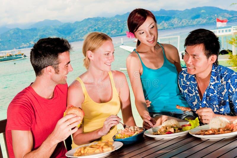 Μεσημεριανό γεύμα στις διακοπές στοκ εικόνες