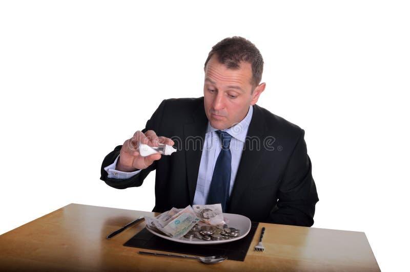 Μεσημεριανό γεύμα χρημάτων στοκ εικόνες