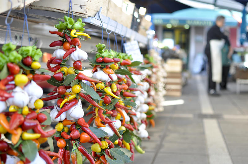Μεσογειακή αγορά - Rovinj, Κροατία στοκ φωτογραφία