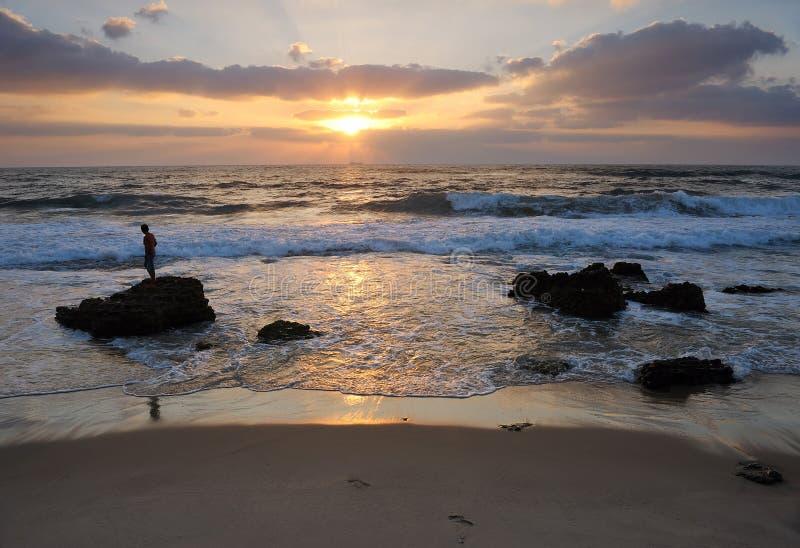Μεσογειακή ακτή Ισραήλ στοκ φωτογραφία