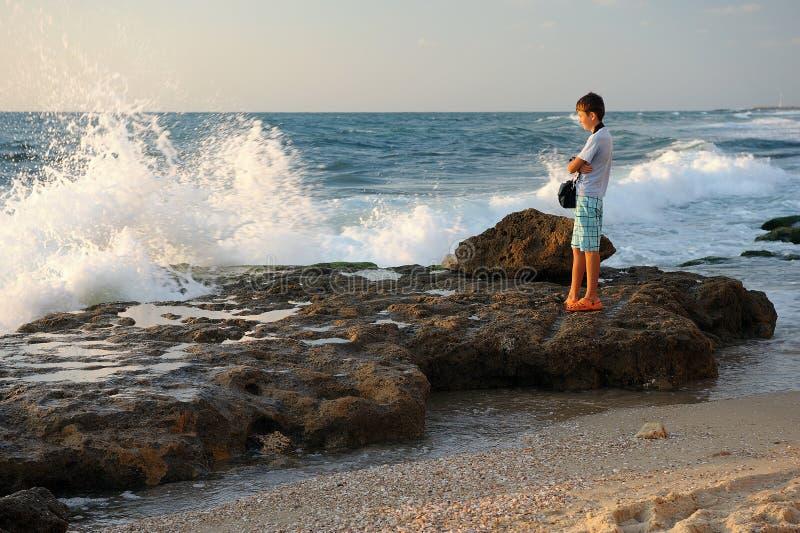 Μεσογειακή ακτή Ισραήλ στοκ φωτογραφίες