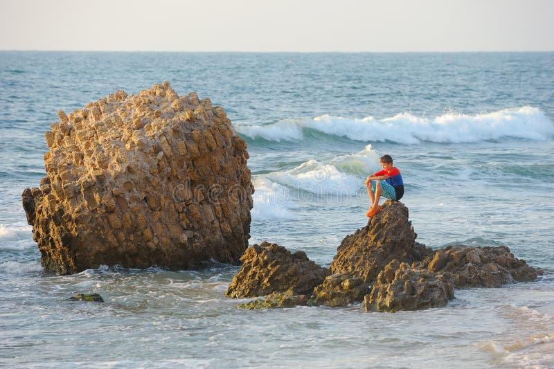 Μεσογειακή ακτή του Ισραήλ στοκ εικόνα με δικαίωμα ελεύθερης χρήσης