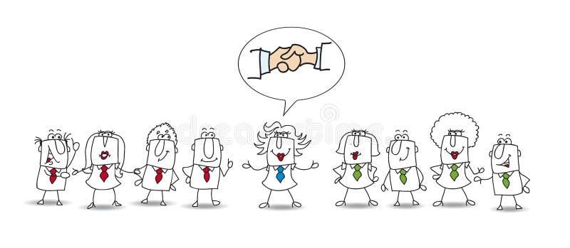Μεσολάβηση μεταξύ δύο εργαζόμενων ομάδων ελεύθερη απεικόνιση δικαιώματος