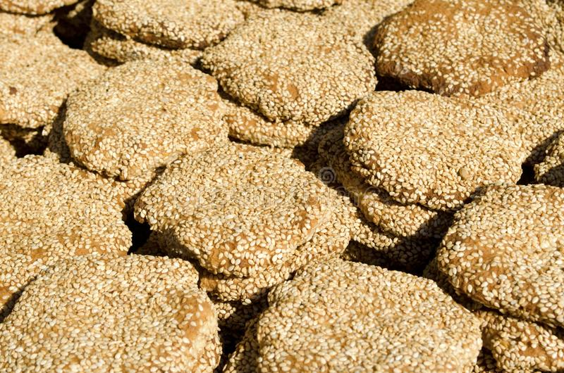 Μεσο-Ανατολικά μπισκότα σουσαμιού στοκ φωτογραφία με δικαίωμα ελεύθερης χρήσης