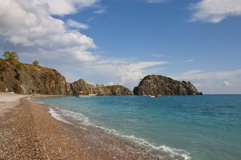 Μεσόγειος ακτών στοκ φωτογραφία με δικαίωμα ελεύθερης χρήσης