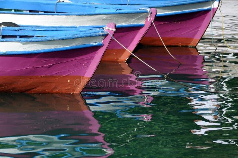Μεσόγειος βαρκών στοκ εικόνα