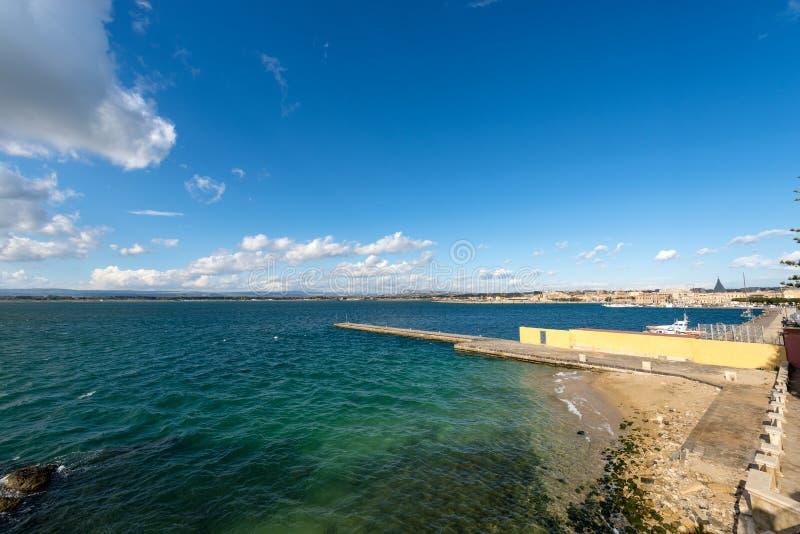 Μεσόγειος - Ortygia Συρακούσες Ιταλία στοκ εικόνες