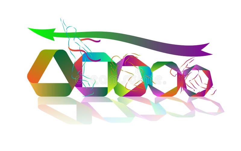 Μετάβαση, μετατροπή, τρόπος στην επιτυχία διανυσματική απεικόνιση