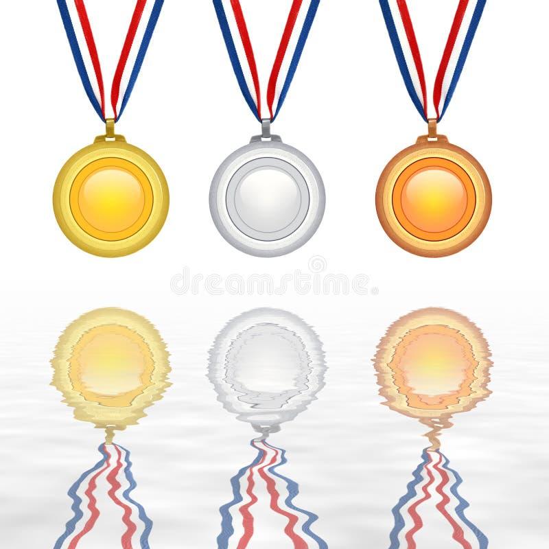 μετάλλια που τίθενται ελεύθερη απεικόνιση δικαιώματος