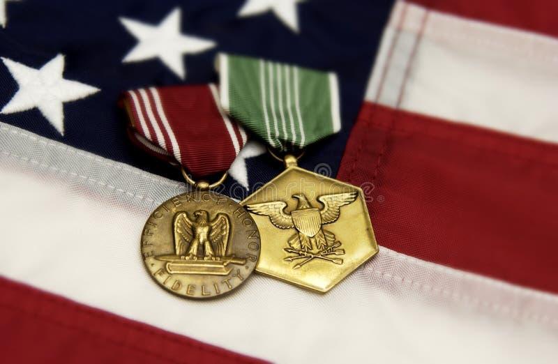μετάλλια στρατιωτικά στοκ φωτογραφία με δικαίωμα ελεύθερης χρήσης