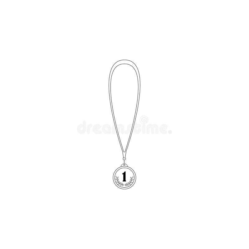 Μετάλλιο με το στεφάνι δαφνών διανυσματική απεικόνιση