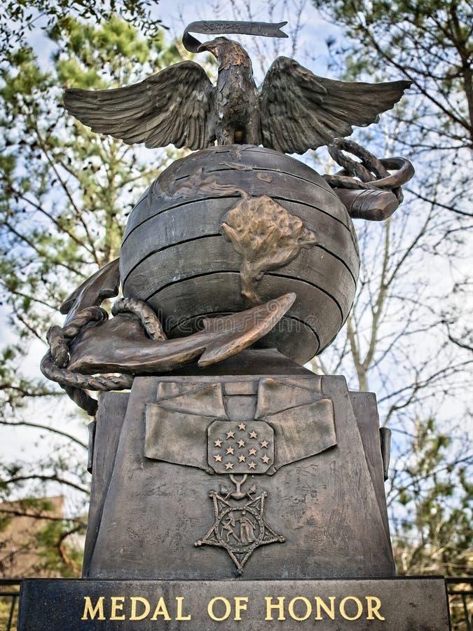 Μετάλλιο του μνημείου τιμής οι δασώδεις περιοχές TX στοκ εικόνες