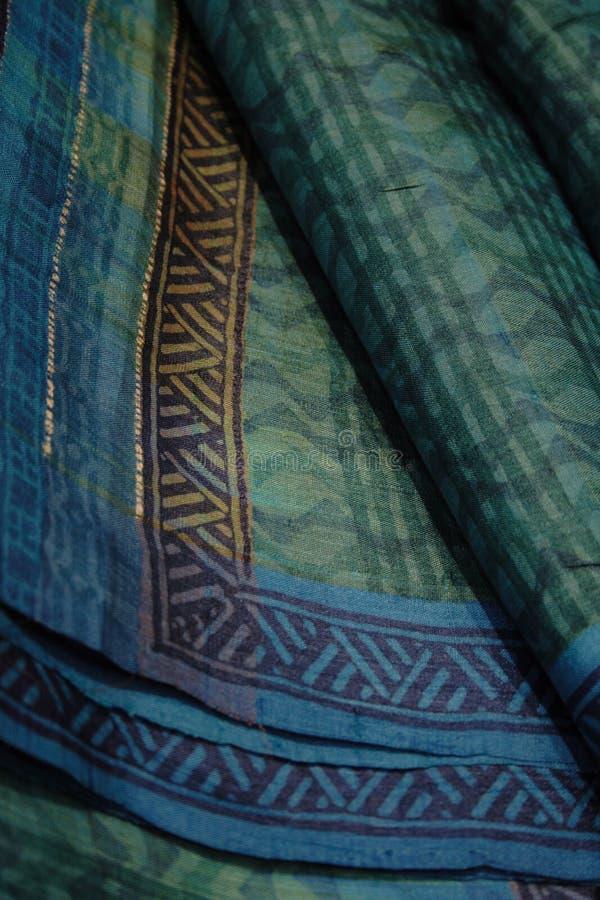 μετάξι saree λουλακιού tussar στοκ φωτογραφίες με δικαίωμα ελεύθερης χρήσης
